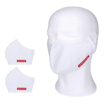 2x Mundschutz Nanosilber Atemschutzmaske waschbar weiss