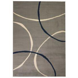 Modern Rug Circle Design 80x150 cm Grey-133017
