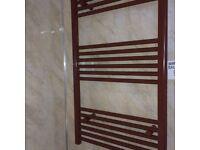 HEATED TOWEL RAIL BROWN GLOSS W 600 x900 mm /60cm x90 cm BATHROOM RADIATOR