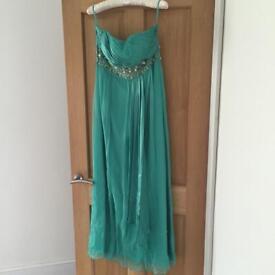 BNWT Monsoon Mint Green Occasion Maxi Dress. Size 14