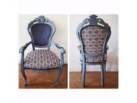 Louis Armchair - Hand restored/upholstered