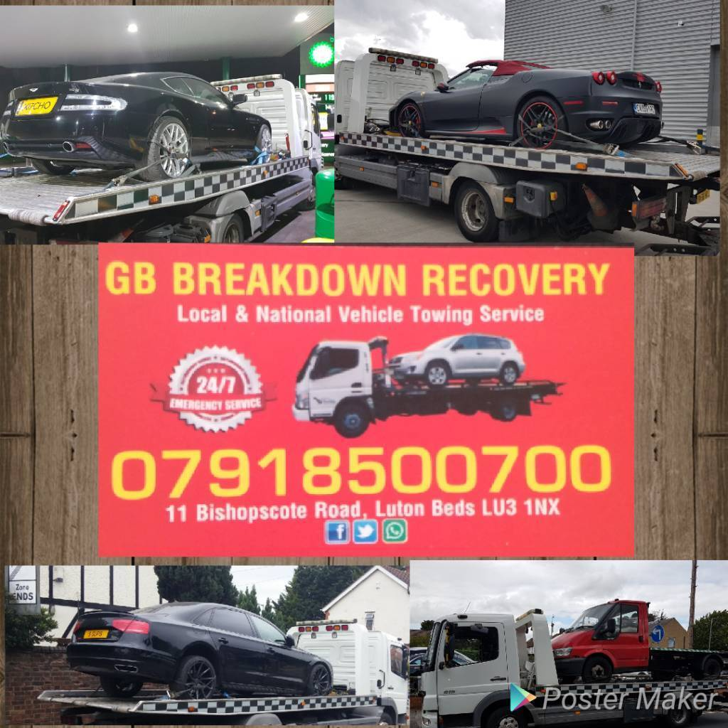 GB Breakdown Vehicle recovery/collection tow service jump start tyre change for Vans,Cars and Bikes