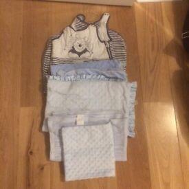 Baby blankets /baby grow bag