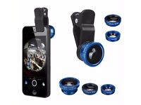 3 in 1 Fisheye Lens Wide Angle Macro Clip On Mobile Camera Lens Zoom