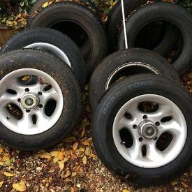 Suzuki alloys with tyres
