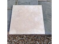 15 natural stone trevatine tiles 40.06 x40.06 mm square perfect condition