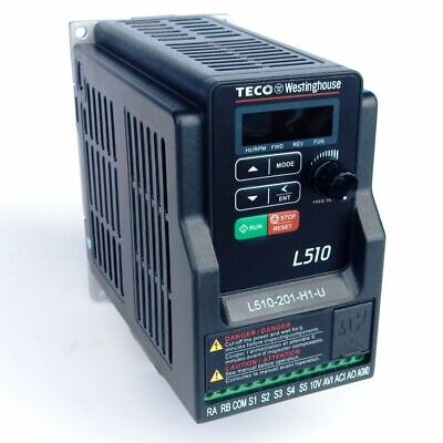 12 Hp 230v 3ph Input 230v 3ph Out Teco Variable Frequency Drive L510-2p5-h3-u