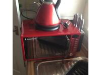 Russel Hobbs microwave and kettle £45 both