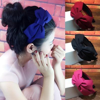 Cute Womens Big Bow Knot Solid Headbands Korean Hairband Headwear Hair Band Hoop - Big Headbands