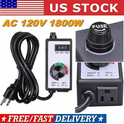 Ac 120v 1800w For Router Fan Variable Speed Controller Electric Motor Rheostat