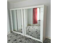 💥💯BRAND NEW 2 and 3 DOORS SLIDING WARDROBE WITH FULL MIRRORS including all Shelves/Rails