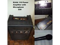 ELKA 110 Power Amplifier with Microphone