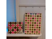 A4 Polka Dot Ring Binder and Mouse Mat Set