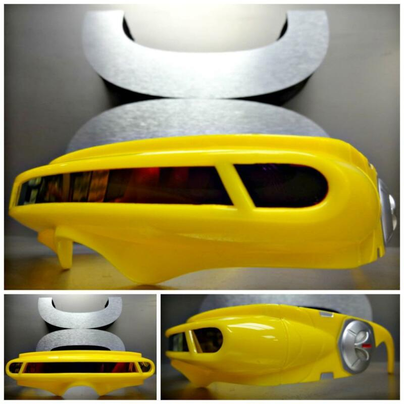 New SPACE ROBOT ALIEN PARTY COSTUME CYCLOPS FUTURISTIC SHIELD SUN GLASSES Yellow