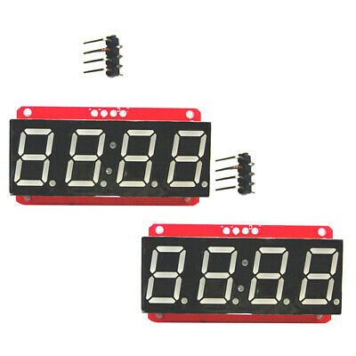 2x 4 Digit 7-segment 0.56 Led Display Module Clock Ht16k33 I2c For Arduino