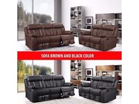 TOP QUALITY🔴CHEAP PRICE🔴BRAND NEW MILANO 3+2 SEAT SOFA SET IN BROWN, BLACK COLORS WITH CUP HOLDERS