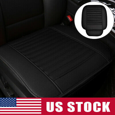 1PCS Black Car Seat Cover Cushions PU Leather For Interior Accessories Chair Pad Black Leather Seat Chair