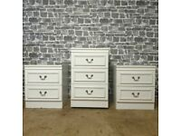 3x Matching Bedside Drawers