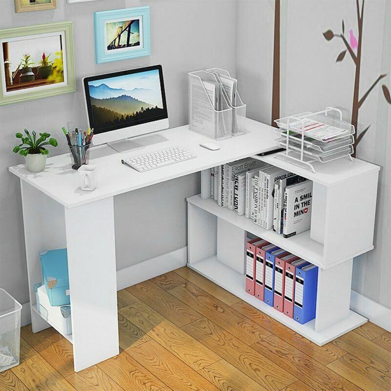 3Tier Shelves Corner Shelf Stand Wood Display Storage Bookca
