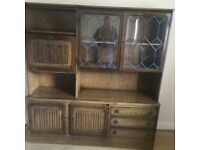 Old charm look a like wall unit. Solid wood in good condition