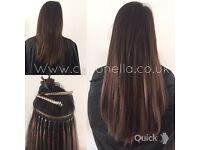 Russian Brazilian Indian virgin Remy Micro rings hot fusion Mobile hair extensions
