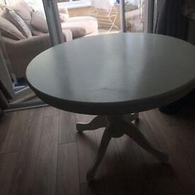 White round table