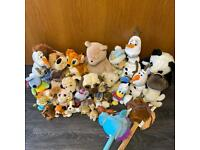 Huge job lot of animal plush teddies - dogs, horses, Olaf, Bambi, Donald Duck + lots more