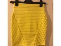 Brand new XS yellow Bershka skirt
