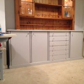 Sideboard - very sturdy - painted light grey