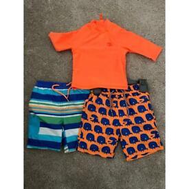12-18 months swim shorts & top NEW