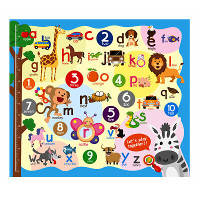 Baby Soft Play Mat Rug Carpet Floor Game Animal Alphabet Numbers Puzzle Toy