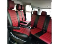 PROFESSIONAL LEATHER CAR SEAT COVERS FOR TOYOTA PRIUS FORD GALAXY VOLKSWAGEN SHARAN PASSAT TOURAN