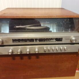 Vintage Fidelity Wood Record Player with Speaker