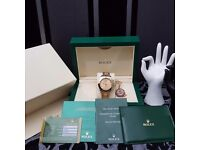 New TwoTone Rolex Daytona with Gold Face Comes Rolex Bagged And Boxed With Paperwork