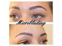 Microblading £80 (using phibrow blades), Ombré brows, Semi permanent makeup, Eyelashes only £45