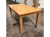 Solid beech kitchen table. 5x4 ft. Excellent condition