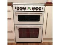 Newworld gas oven and grill with four gas hobs with glass cover all in perfect working order white