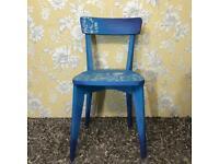Hand painted occasional bedroom chair ombré effect blue colour chalk paint