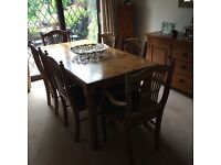 Ducal Pine Dining Table and 6 Chairs