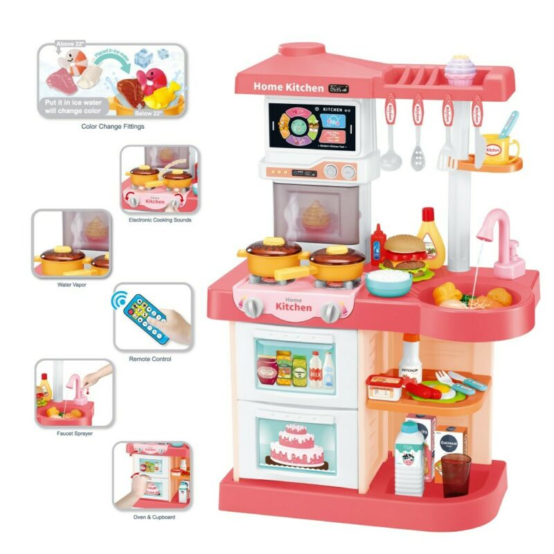 42Pc Kitchen Playset With Light Sound Effect Pretend Kids Pl