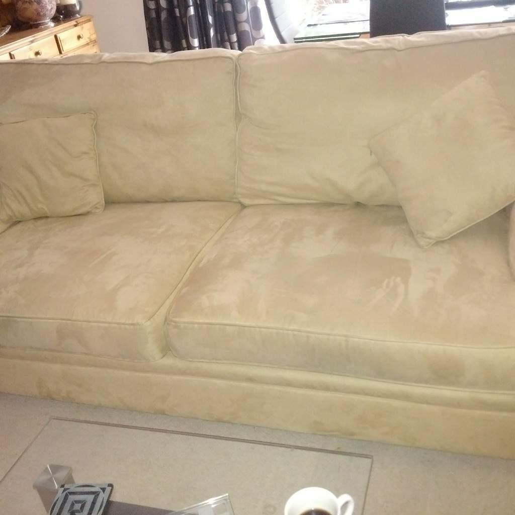 Elegant Sofa Alcantara Galerie Von Large Fabric. Loose Cushions.side Cushions And Full