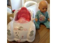 Baby born doll and interactive car