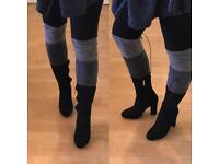 Grey & black contrast boots sizes 3-5