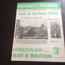 Wanted - old Hibernian FC programmes, tickets, memorabilia