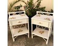 vintage shabby bedsides or side tables