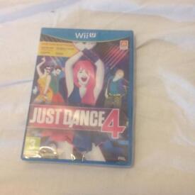 Brand New Wii u JUST DANCE 4 Game