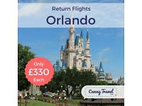 **SAVE £550 OFF THE AIRLINE'S PRICE** 2ad 2ch Return FLIGHTS TO ORLANDO from GATWICK London - £1320