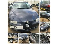 ALFA ROMEO 147 JTD TURISMO 8V 1.9 2003 MANUAL DIESEL blue 743 front bumper all parts available