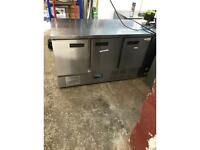 Commercial bench fridge for shop cafe restaurant