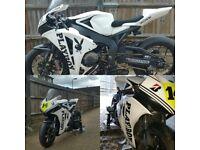 Cbr fireblade road race bike
